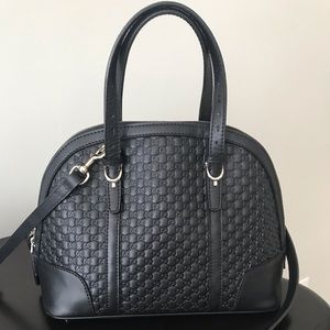 Black GG Guccissima Cross Body